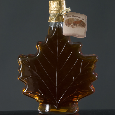 Maple Leaf Glass Bottle 25 oz.-0